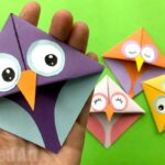 Easy Owl Origami Bookmark Design
