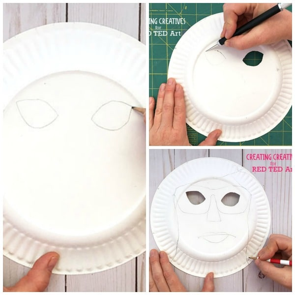 Summer Paper Plate Masks - remember to put your sunscreen on at #SummerCamp or on the Beach.. or else end up with these quirky Sunburnt Paper Plate Mask faces! Super cute guest post from Creating Creatives #summer #preschool #paperplates #masks
