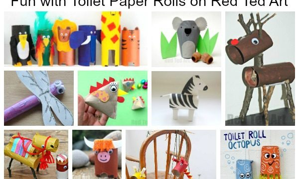 Animal ABC Crafts from Toilet Paper Rolls