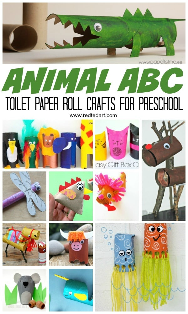Animal Abc Crafts From Toilet Paper Rolls Red Ted Art