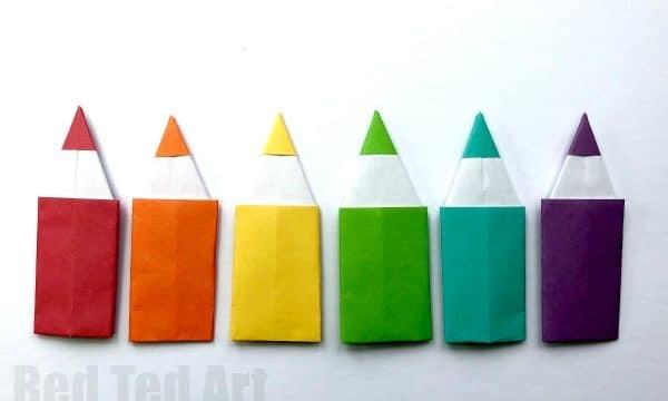 Easy Origami Pencil