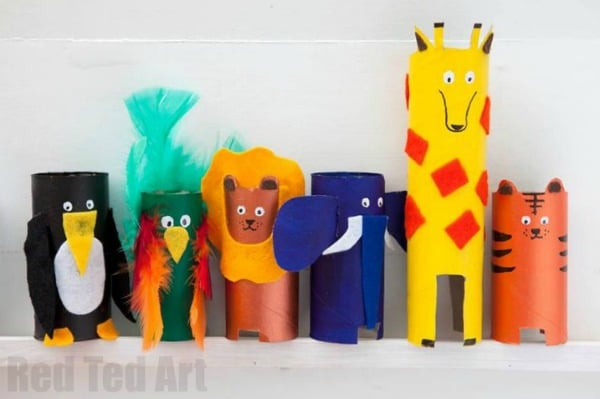Animal Abc Crafts From Toilet Paper Rolls Red Ted Arts Blog