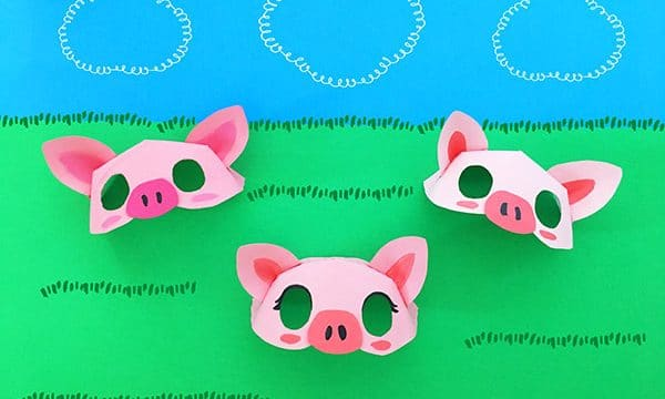 Paper Plate Pig Mask Template