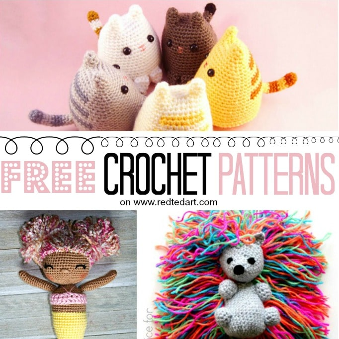 Free Crochet Patterns For Toys Kids Red Ted Arts Blog