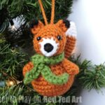 Crochet Fox Ornament