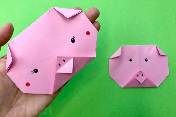 Easy Origami Pig Face Red Ted Art S Blog