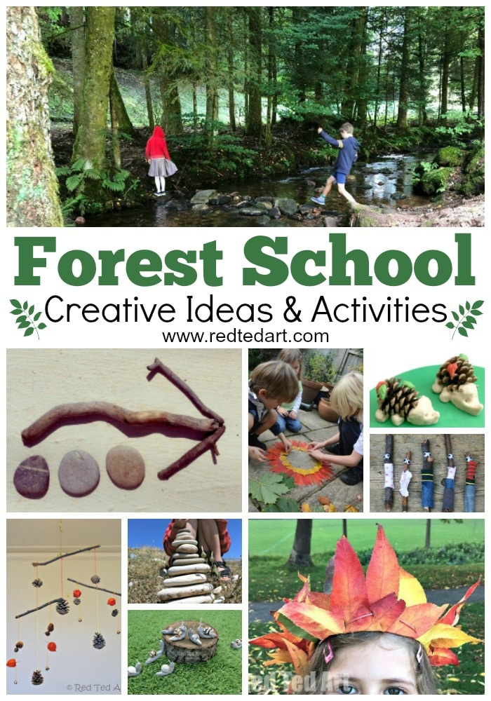 Forest School Activities - great Forest School Ideas and activities for of all ages. From Forest School Art Projects to Forest School Games, be inspired to discover and enjoy nature! Great for Forest School Teachers and Leaders. KS1 KS2 Middle School