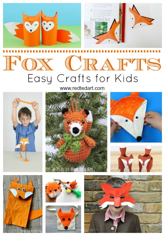 Easy Fox Crafts For Kids Red Ted Art
