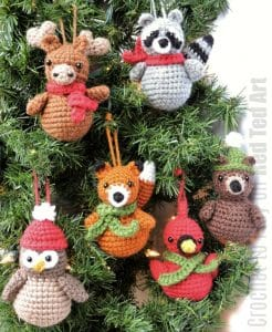 Christmas Crochet Patterns - Set of 4 (Snowman, Gingerbread Man ... | 300x246