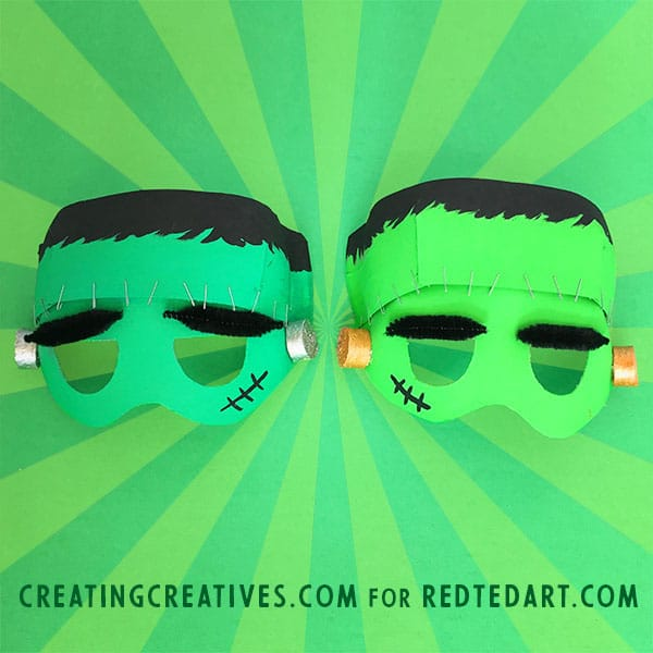 Paper Plate Frankenstine Mask Template - a great No Sew Halloween Costume for Kids. Make these amazing Frankenstein Masks from Paper Plates #paperplate #halloween #frankenstein