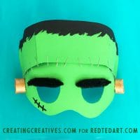 Paper Plate Frankenstein Mask Template