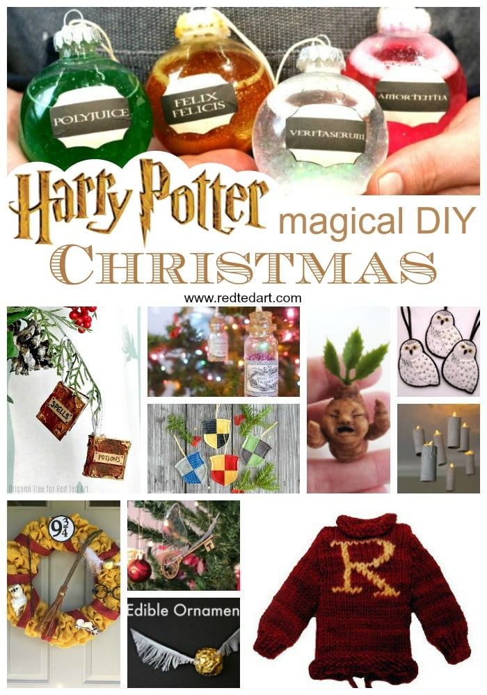 DIY Harry Potter Christmas Decorations. Amazing Harry Potter Crafts for Christmas. Great Harry Potter Ornaments and more! #harrypotter #Christmas