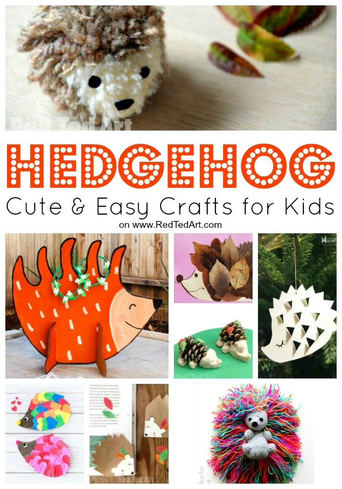 Easy Hedgehog Crafts for Kids - love these adorable DIY Hedgehog Craft Ideas and Hedgehog Activities. Perfect for Fall and Autumn #hedgehogs #kids #crafts