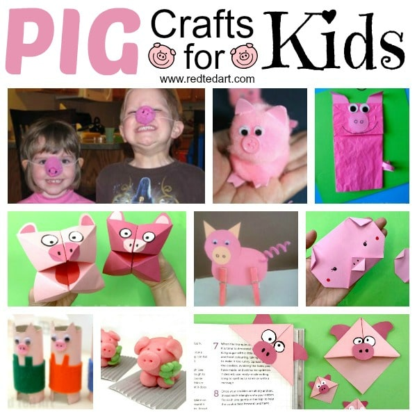 Pig Crafts for Kids!! Oh how we had fun with these Easy Pig Activities for kids. Perfect Farm Animal crafts or Year of the Pig Activities. From Paper Pig Puppets to quirky recycled Pig Noses! Love #pigs #pig #pigcrafts #farmanimals #preschool #yearofthepig