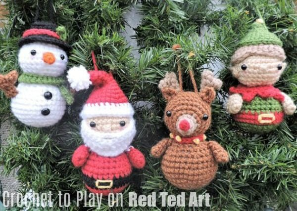 Best Free Free Christmas Crochet Patterns Decorations Red Ted Art