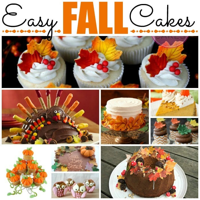 Easy Fall Cake Decorating Ideas - Cake Decorating Ideas for Kids and Beginners. These would be great for Thanksgiving too #Cakes #fall #decorating #thanksgiving