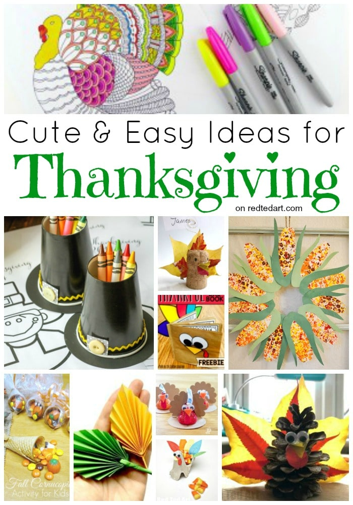 Thanksgiving Crafts For Kids Red Ted Art Make Crafting With Kids Easy Fun