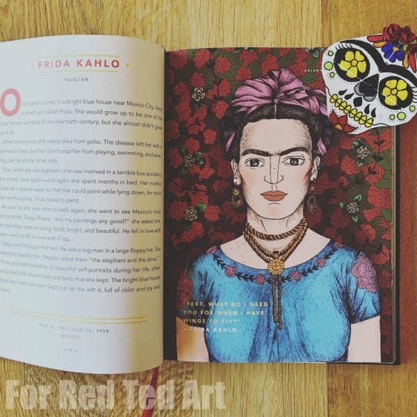 Frida Kahlo Sugar Skull Bookmark Corner Design
