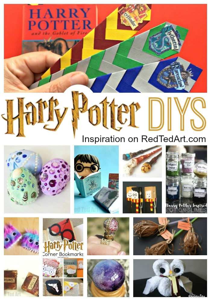 DIY Harry Potter Crafts & Ideas - Red Ted Art