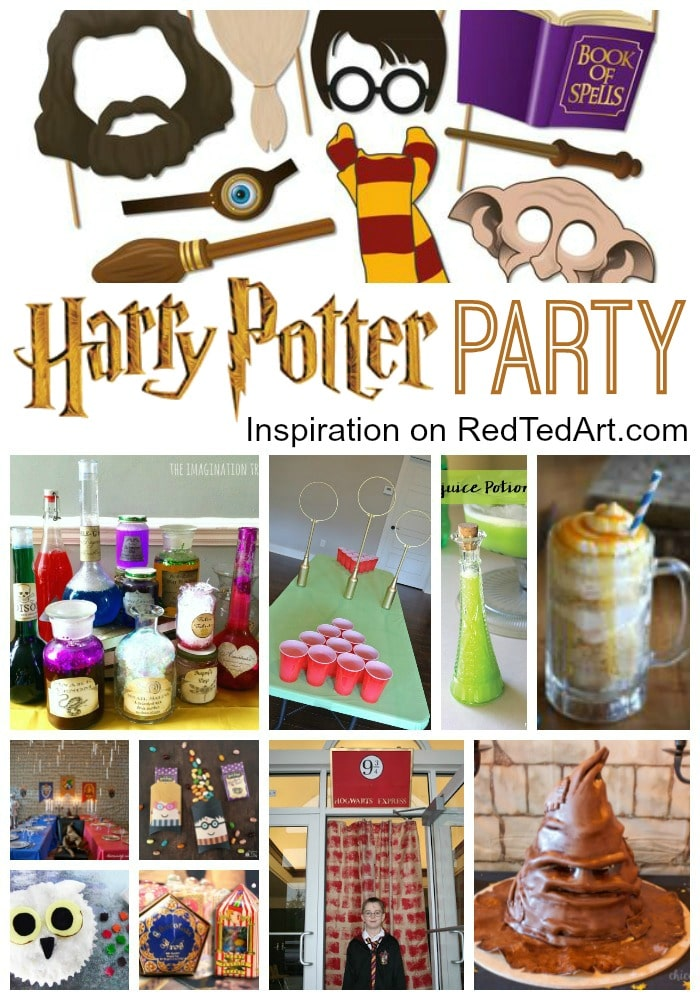DIY Harry Potter Party Ideas - How to host a Harry Potter Birthday Party or host a Harry Potter Halloween Party! #harrypotter #halloween #birthday #party