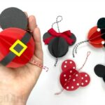 Paper Mickey Mouse Ornaments DIY