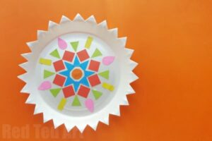 Easy Paper DIY Ornament for kids. Kids Diwali Crafts & Activities #papercrafts #diwali #diya