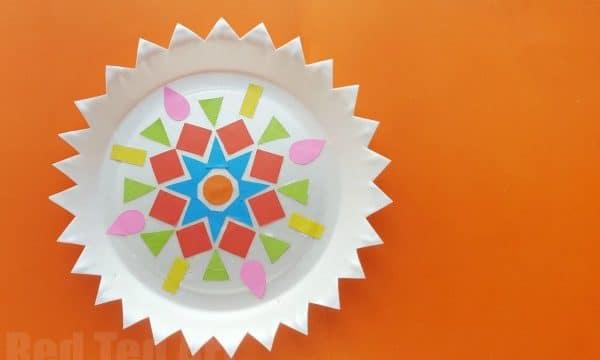 Paper Plate Rangoli Kids' Diwali Craft