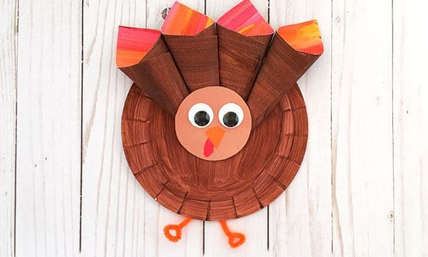 Paper Plate Turkey For Preschoolers