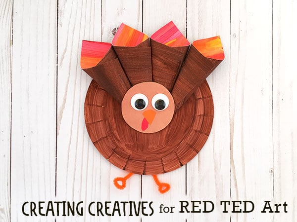 Paper Plate Turkey For Preschoolers Red Ted Art