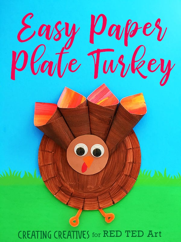 Easy Paper Plate Turkey Craft for Preschoolers. How to make a Paper Plate Turkey. Thanksgiving crafts for kids #thanksgicing #turkey #paperplate