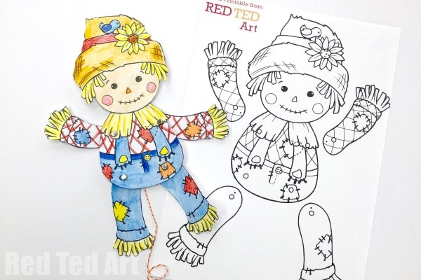 Articulated Scarecrow Puppet Printable for Harvest ...