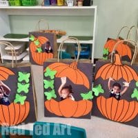 Easy Pumpkin Treat Bags for Preschool