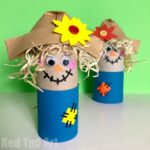 Easy Toilet Paper Roll Scarecrow for Preschool