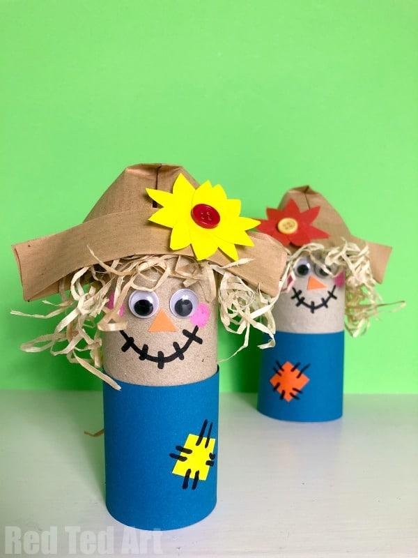 Easy Toilet Paper Roll Scarecrow For Preschool Red Ted Art