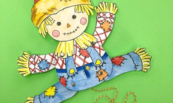 Free Articulated Scarecrow Puppet Printable for Harvest Festival