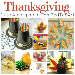 Easy Thanksgiving crafts for kids on redtedart!