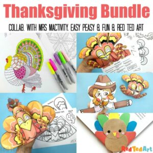 Collage of Thankgiving Crafts for Kids