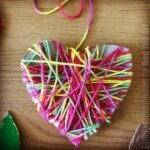 Yarn Wrapped Heart Ornament