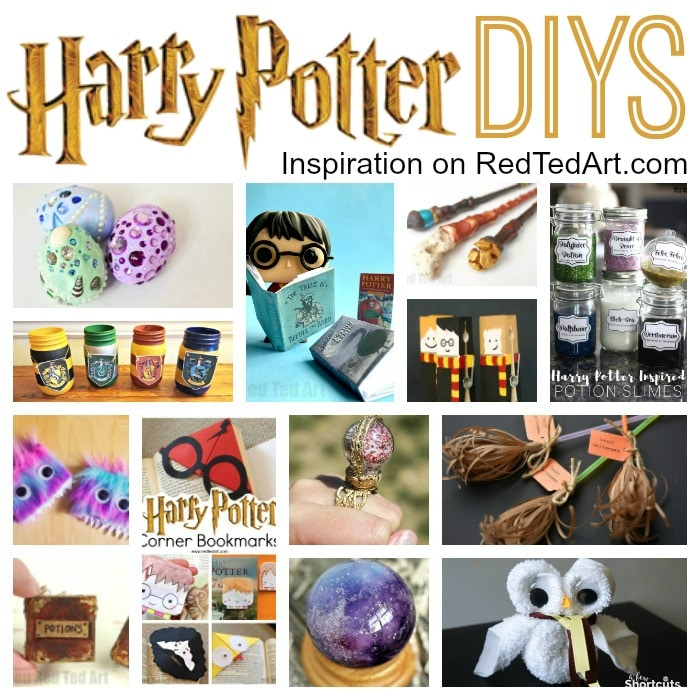 Harry Potter Christmas Card Ideas.Diy Harry Potter Crafts Ideas Red Ted Art