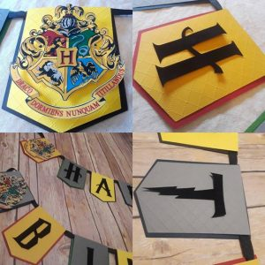 photo about Harry Potter Decorations Printable called Harry Potter Bash Options - Purple Ted Artwork