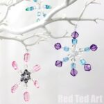 Beaded Pipe Cleaner Snowflakes Ornaments DIY