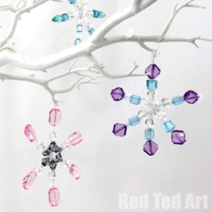 pipe cleaner snowflakes