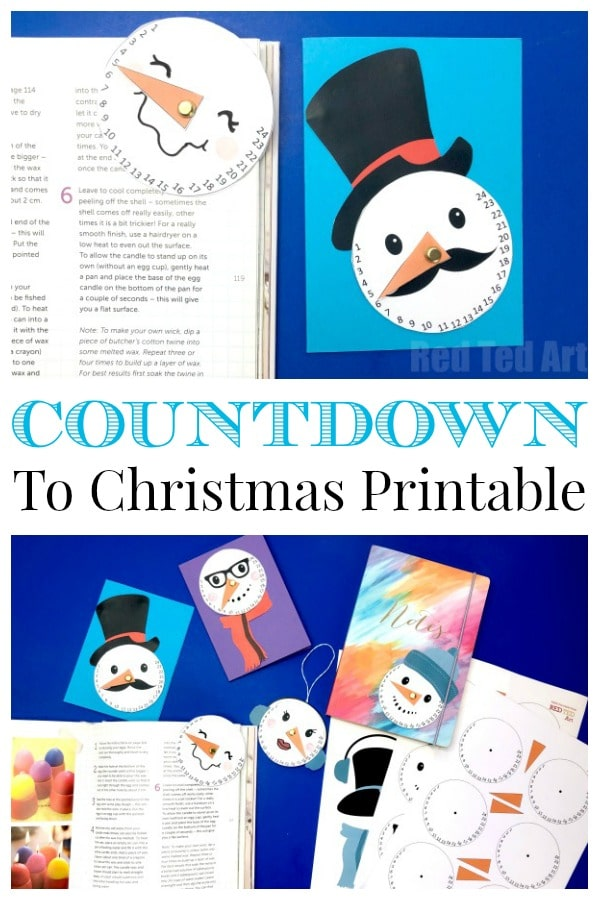 Christmas Countdown Printable - free Countdown Snowman Printable Craft for kids #christmas #countdown #printable