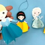 Easy Paper Cinderella Doll Ornament