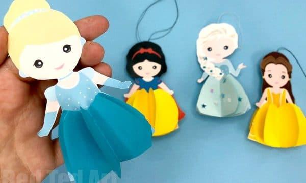 Easy Paper Cinderella Doll Ornament