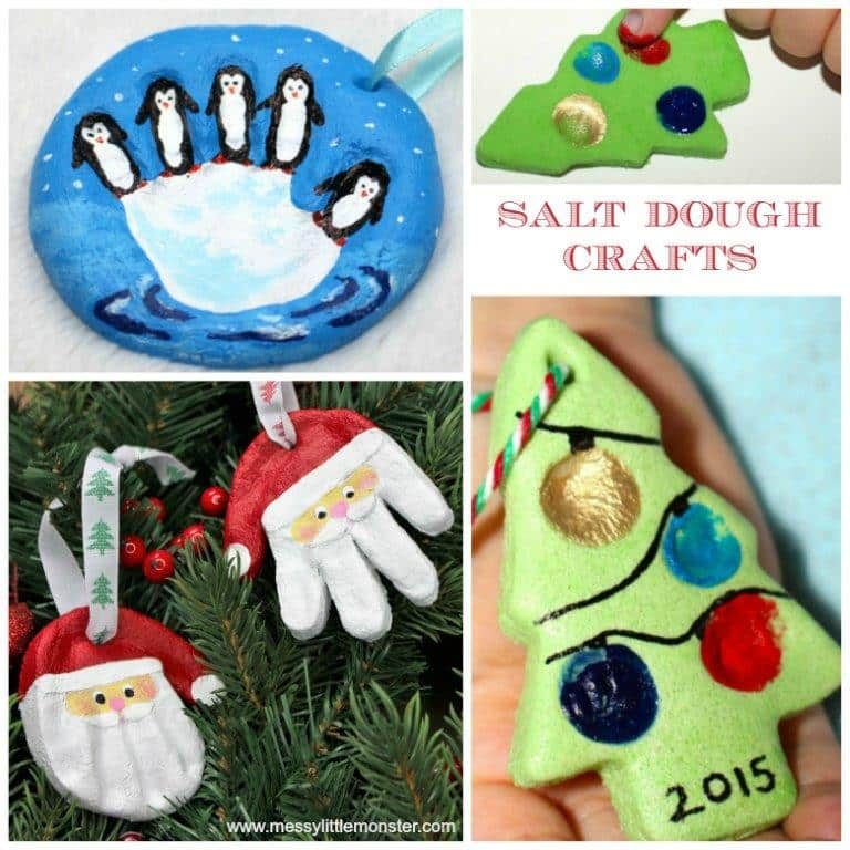 Christmas Salt Dough Ornaments For Kids Red Ted Art