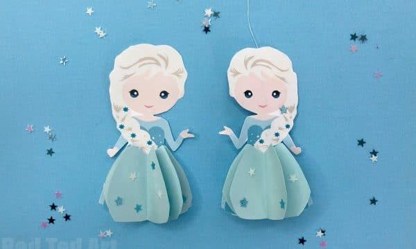 Paper Elsa Ornament Printable