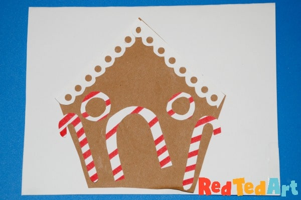 Gingerbread House Cards for Preschoolers
