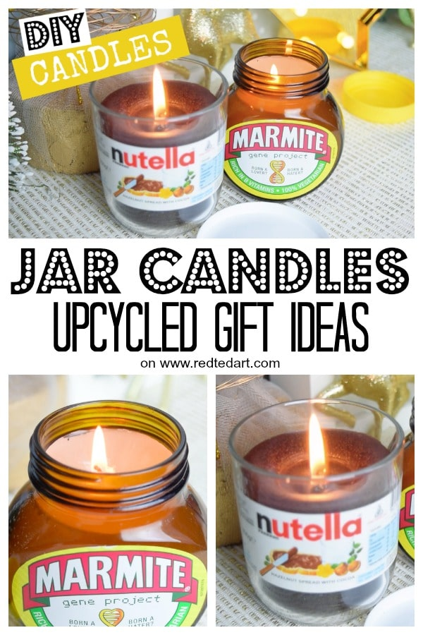 How to make candles with jars. DIY Jar Candles - great Christmas Gift Idea. Upcycled Mason Jar Candles #christmas