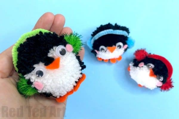 pom pom penguin how to guide